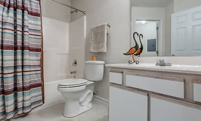 Bathroom, Wyndfall Apartments, 2