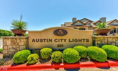 Community Signage, Austin City Lights, 2