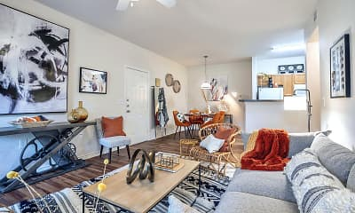 Living Room, Stoneridge Apartments, 1