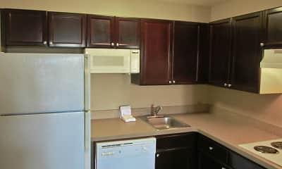 Kitchen, Furnished Studio - Indianapolis - Northwest - I-465, 1