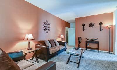 Living Room, Las Palmas Apartments, 1