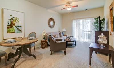 Living Room, Regency Apartments, 1