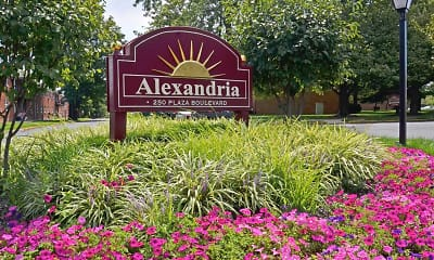 Community Signage, Alexandria Apartments, 0