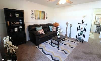Living Room, Camelot Apartments, 2