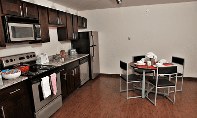 Kitchen, Lions Gate Apartments, 0
