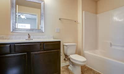 Bathroom, Crosswinds Apartments, 2