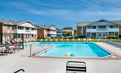 Pool, North Park Apartments of Evansville, 2