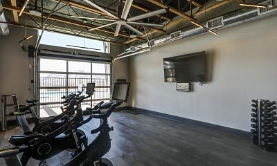 Fitness Weight Room, FalconView, 2