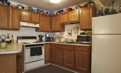 Kitchen, Lakeview Apartments, 1