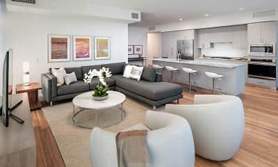 Living Room, Optima Kierland Apartments, 0