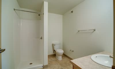 Bathroom, Mercy Heights Apartments, 2