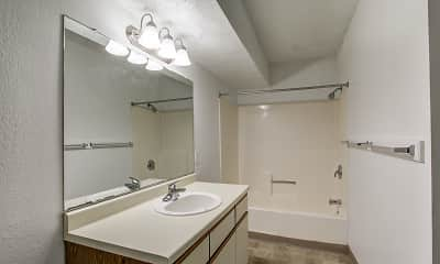 Bathroom, Timber Creek Apartments, 2