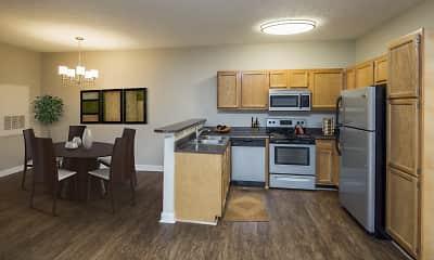 Kitchen, Main Street Apartments, 0