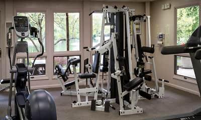 Fitness Weight Room, Atrium Apartments, 2