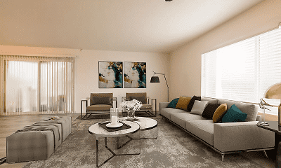 Living Room, Edgemont Apartments, 1