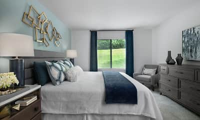 Bedroom, River Oaks Apartments Of Rochester Hills, 1