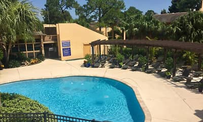 Pool, Forest Isle Apartments, 1