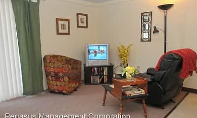 Living Room, Fox Park Apartments, 1