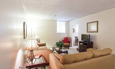 Living Room, Bower Hill III Apartments, 1