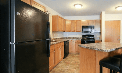 Kitchen, Fox Run Apartments, 1