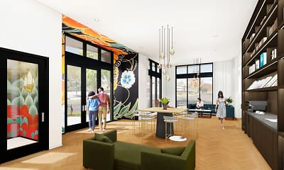 Living Room, Eleanor Apartments, 0