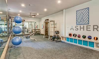 Fitness Weight Room, Bridge at Asher, 1