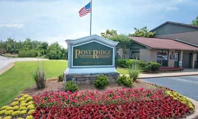 Community Signage, Post Ridge, 1