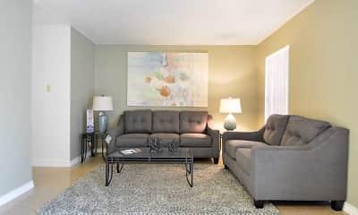Living Room, Fort Hood Family Housing, 1