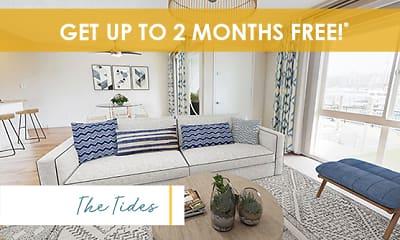 Living Room, Marina Harbor Apartments, 0