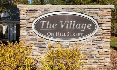 Community Signage, Village on Hill St., 2