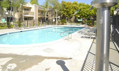 Pool, Woodcreek Apartments, 2