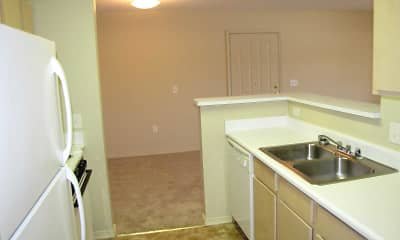 Kitchen, Austin Pointe Apts., 2