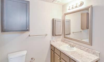 Bathroom, The Saxony At Chase Oaks, 2