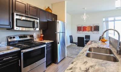 Kitchen, The Pointe Luxury Apartments, 1