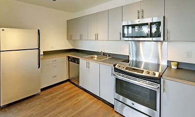 Kitchen, 19th & Mercer Apartments, 1