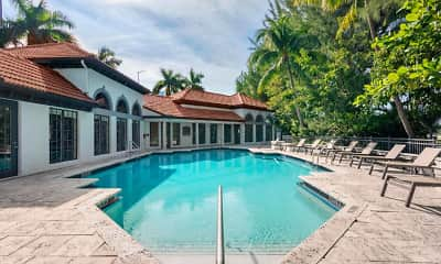 Pool, Promenade at Aventura Apartments, 1