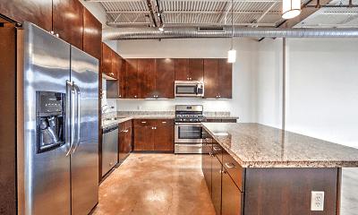 Kitchen, City View Lofts, 1