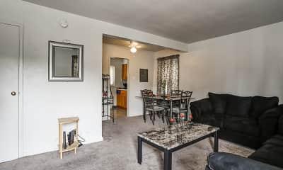 Living Room, Penn Garden Apartments, 1