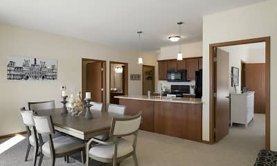Kitchen, The Estates At Arbor Oaks Independent Senior, 2