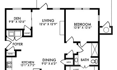 floor plan, Crowne at Old Town North, 2
