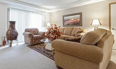 Living Room, Saddlewood Park Townhomes, 1