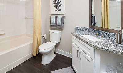 Bathroom, Acadia Apartments, 2
