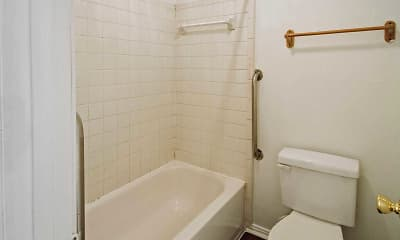 Bathroom, Fort Bayou Apartments, 2