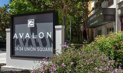 Community Signage, Avalon Union City, 2