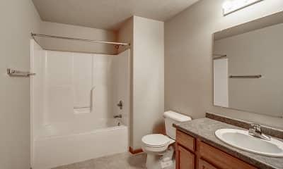 Bathroom, Hawk Pointe Apartments, 2