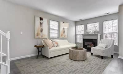 Living Room, Lakeview Townhomes at Fox Valley, 1