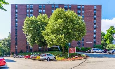 Community Signage, Amberson Plaza Apartments, 0