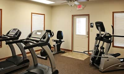 Fitness Weight Room, Republic Palms Apartments, 2