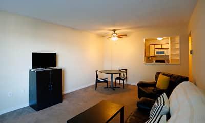 Living Room, Iris Apartments, 1