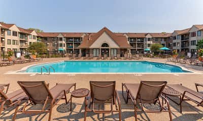 Pool, Oaks Lincoln Apartments, 0
